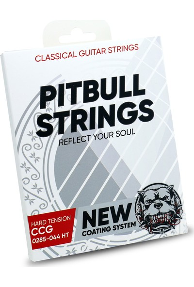 Pitbull Strings Coated New Version 0285-044 High Tension Takım Tel Klasik Gitar Teli