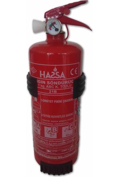 Hassa 1 kg Askılıklı Yangın Söndürme Tüpü ABC Kuru Kimyevi Tozlu