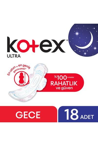Kotex Ultra Gece Hijyenik Ped (18 Adet) - Süper Ekonomik Paket