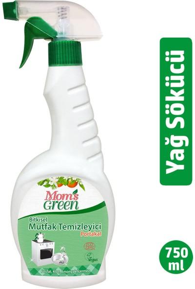 Mom's Green Bitkisel Portakallı Yağ Sökücü Mutfak Sprey 750 ml