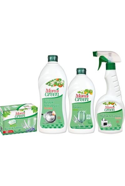 Mom's Green Ekolojik Bulaşık Temizliği Seti Portakal 4'lü Set