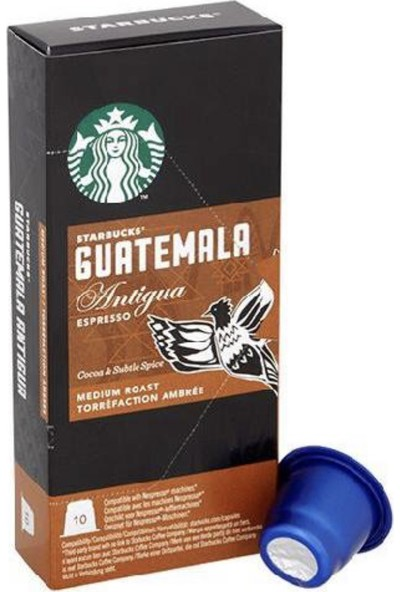 Guatemala Nespresso Uyumlu Kapsül Kahve 10' Lu Paket