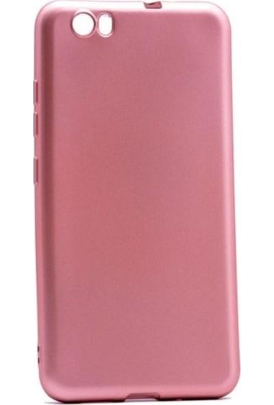 Kaltel Gsm Vestel Venüs E2 Mat Premier Silikon Kılıf + Cam Ekran Koruyucu - Rose Gold