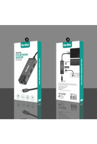 Go-Des GD-DK829 Otg Lightning Network Adaptör