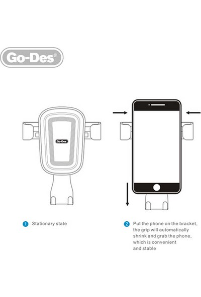 Go-Des GD-HD629 Araç İçi Telefon Tutucu