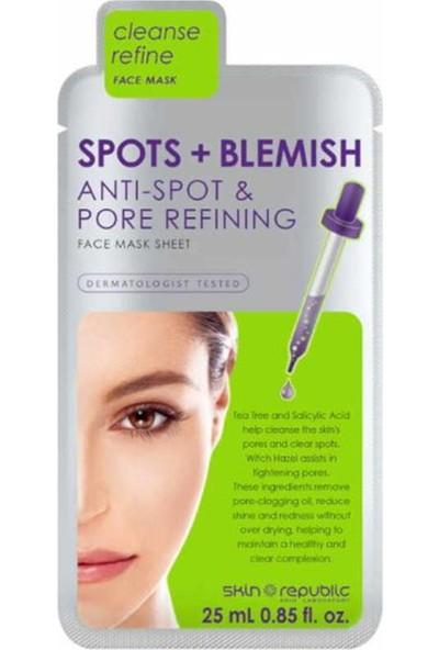 Skin Republic Spots +Blemish Yüz Maskesi 25 ml
