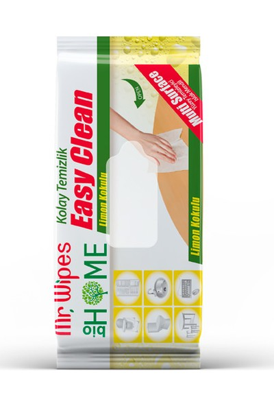 Mr Wıpes Easy Clean Temizleme Mendili Limon Kokulu 40 ADET-1205004