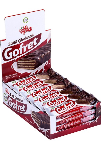 Afia Sütlü Çikolatalı Gofret 24'lü