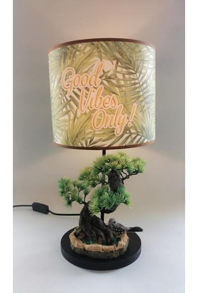 Hediye Fikri Dekoratif Bonzai Ağacı Tasarımlı Abajur