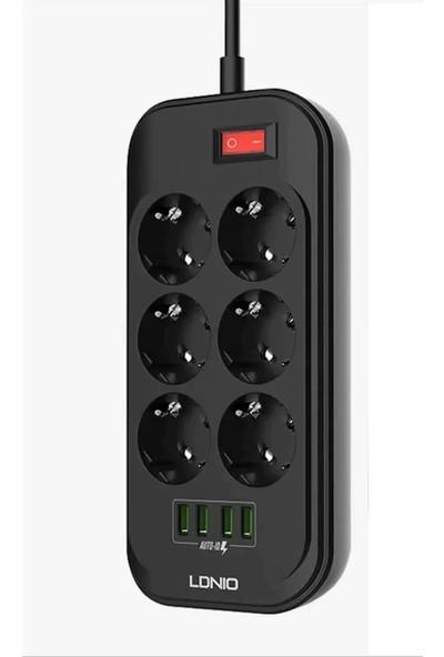 Mobitell Ldnio 6403 3.4 A 4 USB + 6 Priz Akım Korumalı Priz 2 M