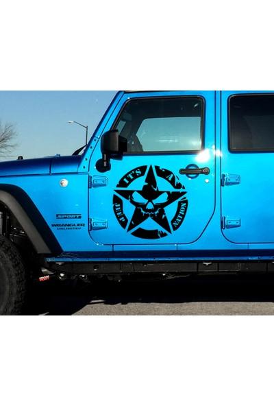 Angel - 2 Adet It's A Jeep Nation Askeri Yıldız, Off Road Sticker