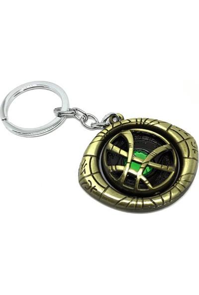 Gamerloot Doktor Strange Zaman Taşı Agamotto Çarklı Metal Anahtarlık