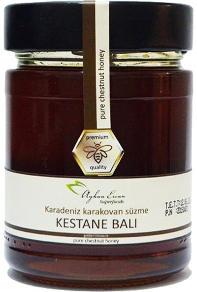 Ayhan Ercan Superfoods Karadeniz Karakovan Süzme Kestane Balı 350 gr