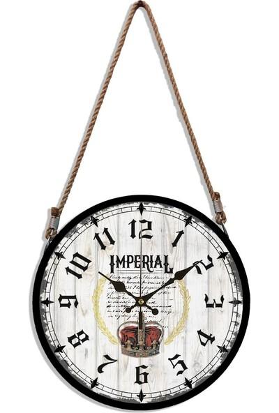 Rikon Halatlı Dekoratif Duvar Saati İmperial 60X31 Cm