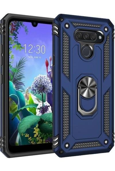 Tbkcase LG Q60 Kılıf Vega Tank Kapak + Nano Ekran Koruyucu Lacivert