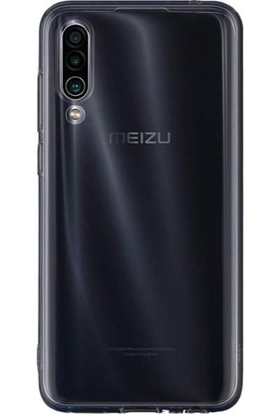 Tbkcase Meizu 16XS Tam Korumalı Silikon Kılıf Şeffaf