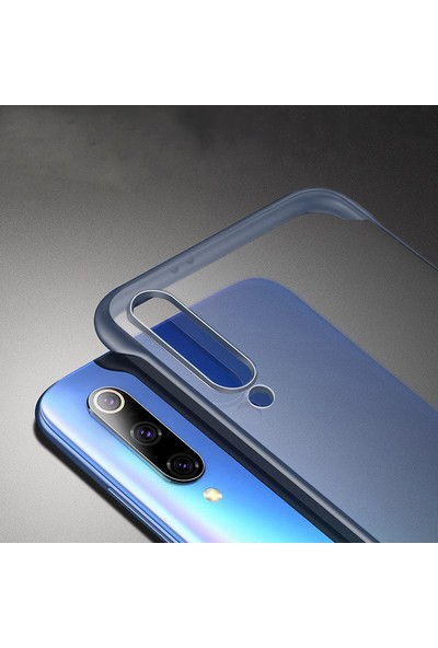 Microcase Xiaomi Mi 9 Explorer Frameless Serisi Sert Rubber Kılıf - Mavi