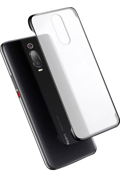Microcase Xiaomi Redmi Mi9T - Mi9T Pro Frameless Serisi Sert Rubber Kılıf - Siyah