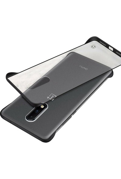 Microcase OnePlus 7 Frameless Serisi Sert Rubber Kılıf - Siyah