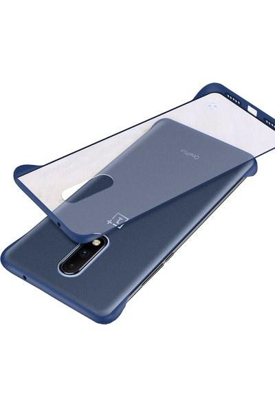 Microcase OnePlus 7 Frameless Serisi Sert Rubber Kılıf - Mavi