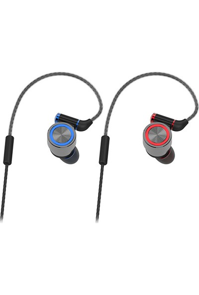 Snopy Rampage SN-J8 Elegant Mobil Telefon Uyumlu Metal Kulak İçi Gri Mikrofonlu Kulaklık