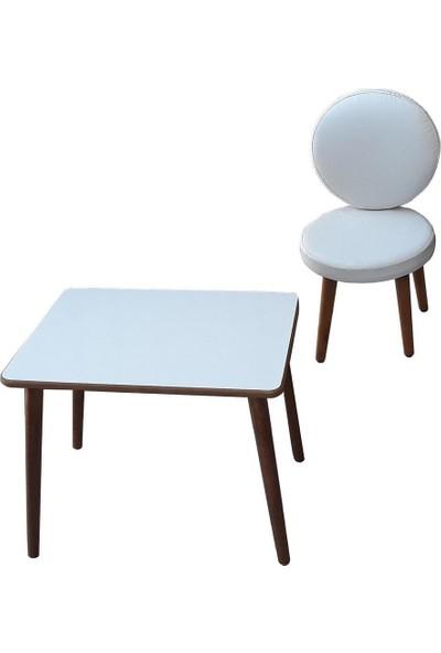 Depolife Oyun Faliyet Masa Sandalye Seti Ilk Ofisim Çalışma Takımı Beyaz