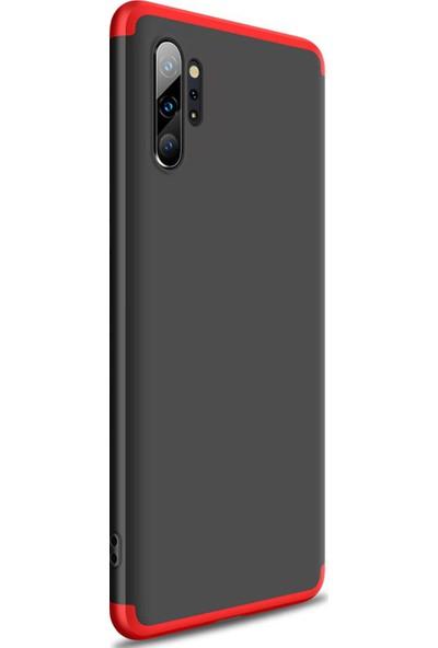 Microsonic Samsung Galaxy Note 10 Plus Kılıf Double Dip 360 Protective Siyah - Kırmızı