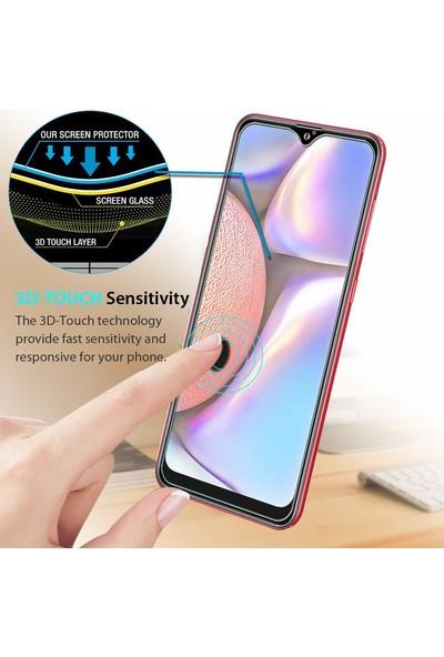 Microsonic Samsung Galaxy A10s Temperli Cam Ekran Koruyucu Şeffaf