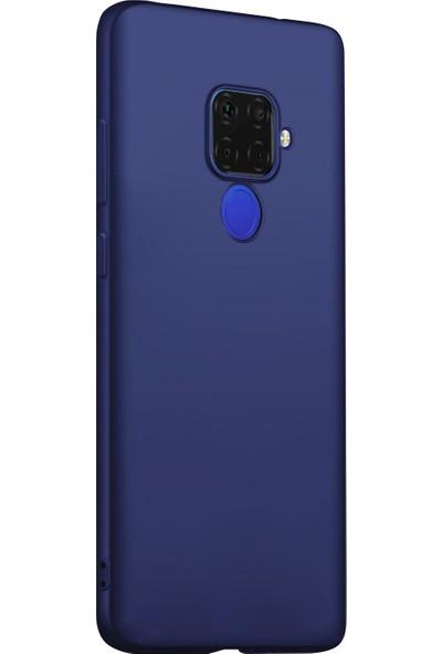 Microsonic Matte Silicone Huawei Mate 30 Lite Kılıf Lacivert