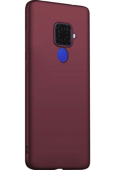 Microsonic Matte Silicone Huawei Mate 30 Lite Kılıf Mor