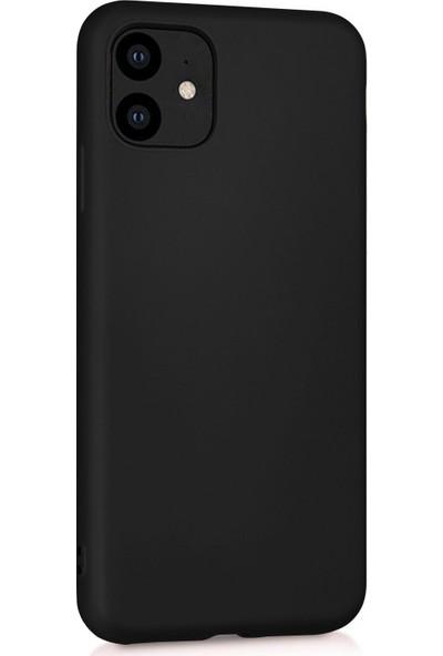 Microsonic Matte Silicone Apple iPhone 11 Kılıf Siyah
