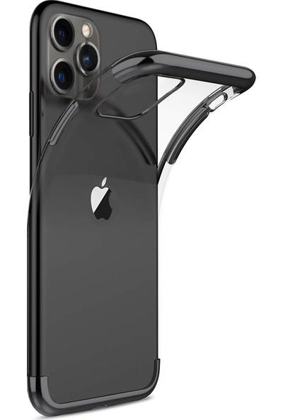 Microsonic Apple iPhone 11 Pro Max Kılıf Skyfall Transparent Clear Siyah