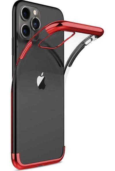 Microsonic Apple iPhone 11 Pro Kılıf Skyfall Transparent Clear Kırmızı