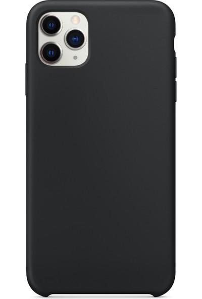 Microsonic Apple iPhone 11 Pro Kılıf Liquid Lansman Silikon Siyah