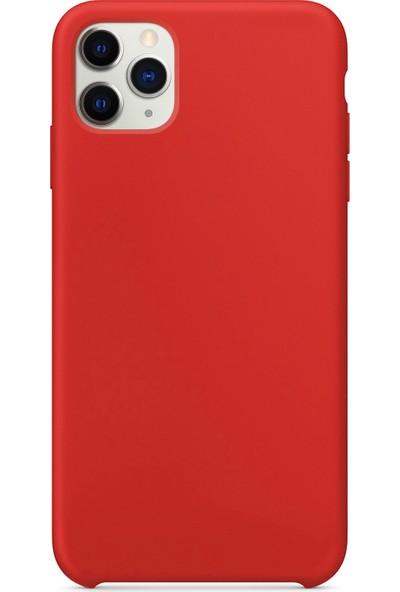 Microsonic Apple iPhone 11 Pro Kılıf Liquid Lansman Silikon Kırmızı