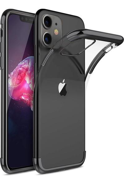 Microsonic Apple iPhone 11 Kılıf Skyfall Transparent Clear Siyah