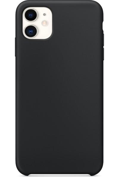 Microsonic Apple iPhone 11 Kılıf Liquid Lansman Silikon Siyah