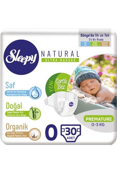 Sleepy Bebek Bezi Naturel Jumbo 0 Beden Premature 60 Adet