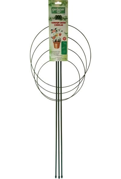 Gardener 53698 Tırmanan Bitkiler İçin Halkalı Destek (Sarmaşık) Çubuğu - 90 cm