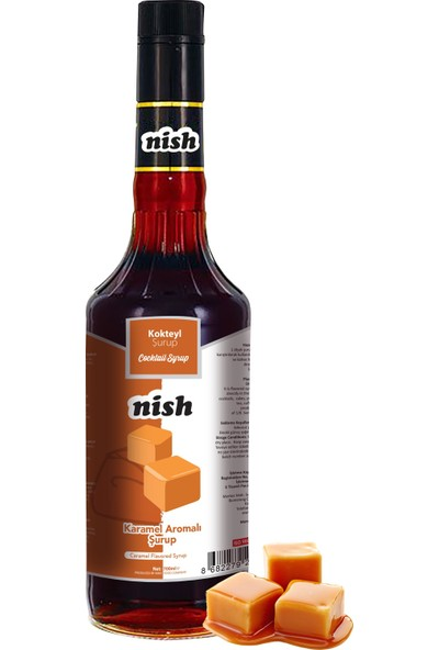 Nish Karamel Aromalı Şurup 700 ml