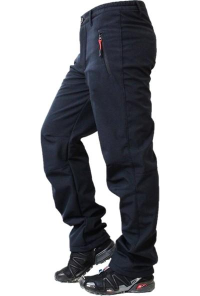 Ysf Su ve Rüzgar Geçirmez Softshell İçi Polarlı Motosiklet Pantolonu