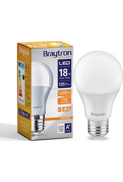 Braytron 18W LED Ampül E27 3000K Gunışığı IŞIK-BA13-01820