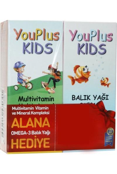 You-Plus Kids Multivitamin ve Mineral Kompleksi 100 ml + Balık Yağı 100 ml Set