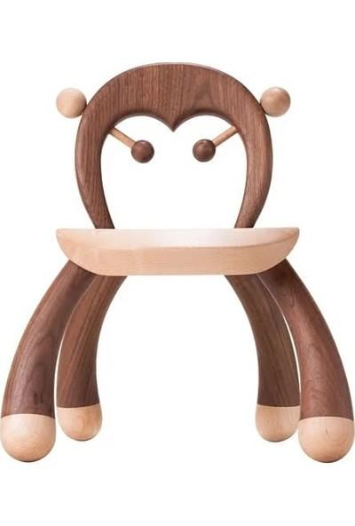 Master Designer Ahşap Çocuk Sandalyesi Şempanze