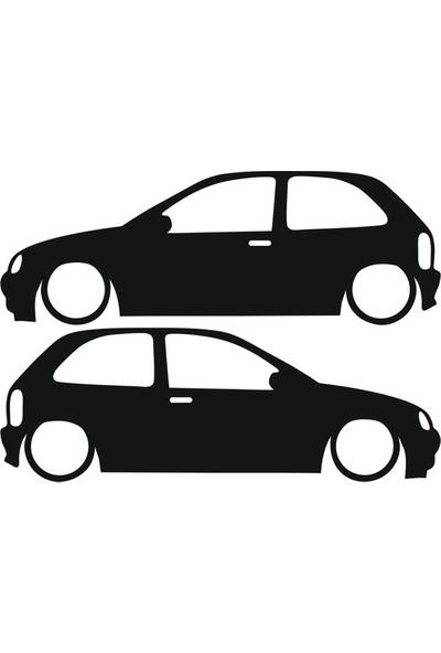 Tatfast Opel Corsa B Basık Araç Sticker