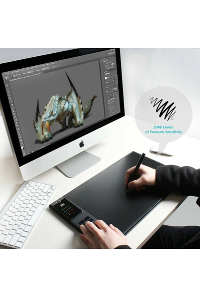 """Huion Giano WH1409 13.8 - 8.6"""" Grafik Tablet"""