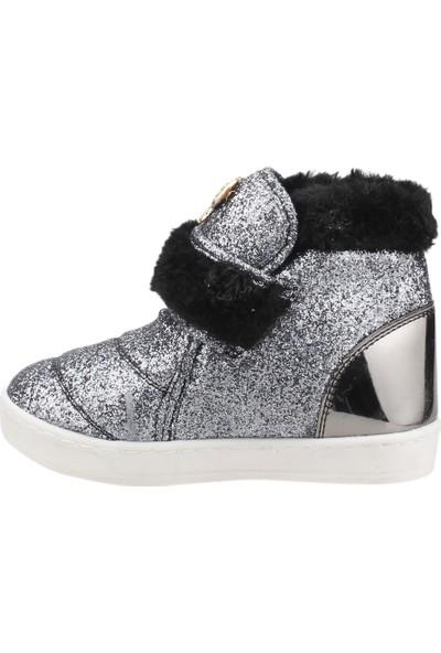 Sanbe 112P203 Kışlık Cırtlı Kız Çocuk Bot Ayakkabı Platin