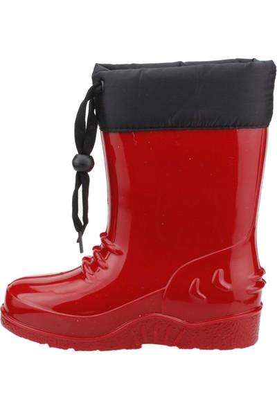Sanbe 901P3101 Yağmur Su Geçirmez Kız/Erkek Çocuk Çizme Kırmızı