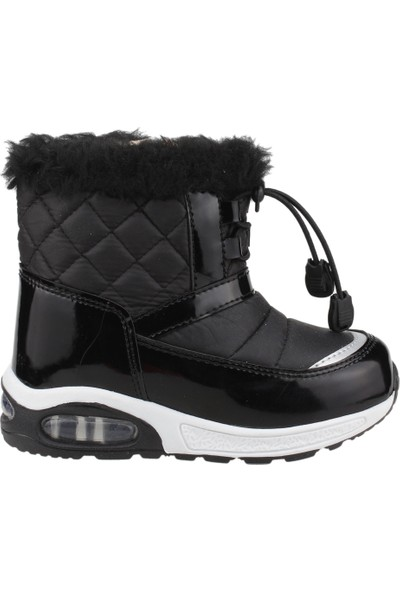 Scooby 5066 Günlük Termal Erkek/Kız Çocuk Kar Botu Ayakkabı Siyah