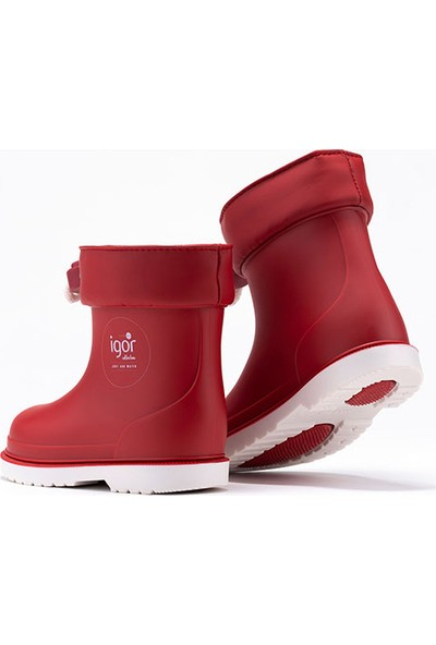 İgor W10225 Bimbi Nautico Erkek/Kız Çocuk Su Geçirmez Yağmur Kar Çizmesi Kırmızı